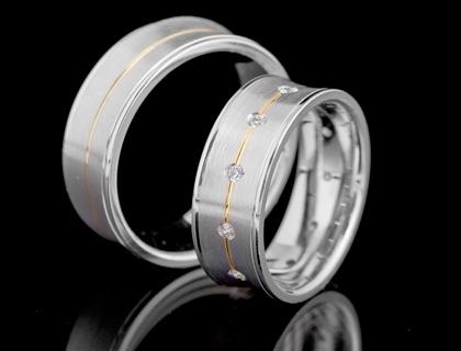 Dijamantske burme od belog zlata 14k
