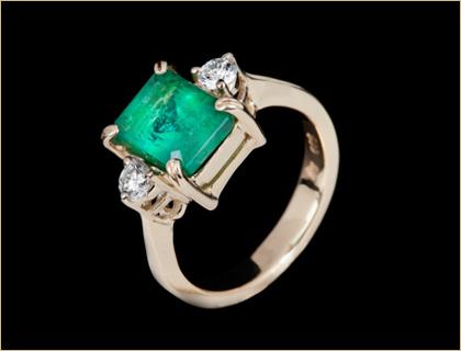 verenicko prstenje verenicki prsten sa smaragdom