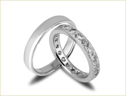 Burma sa dijamantima izradjena od belog zlata