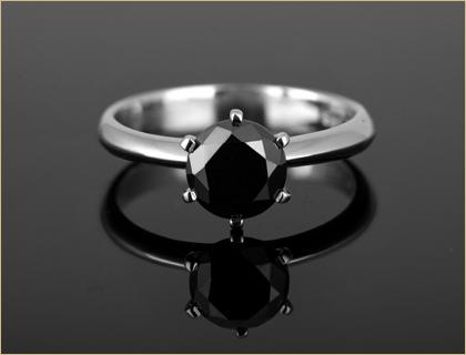 verenicko prstenje sa crnim dijamantom
